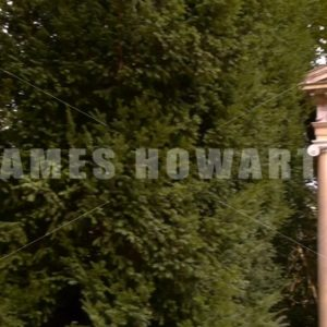 ENGLAND – CIRCA 2011: Columns at Howard Castle gardens. - Actor Stock Footage