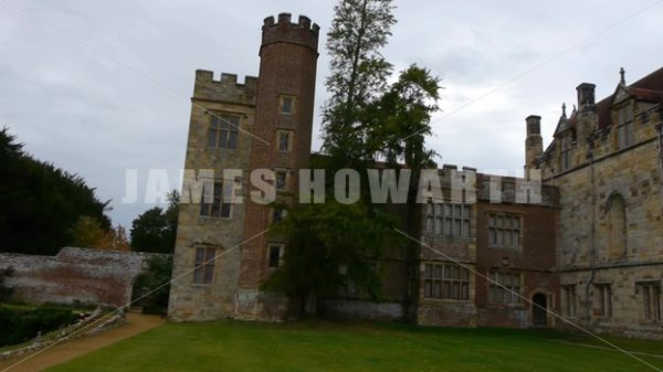 ENGLAND – CIRCA 2011: Complete pan of grounds and Penshurst Place Castle. - Actor Stock Footage