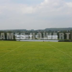 ENGLAND – CIRCA 2011: English lake at Howard Castle. - Actor Stock Footage