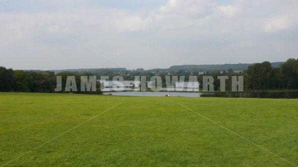 ENGLAND – CIRCA 2011: English lake at Howard Castle. - Actor Stock Footage