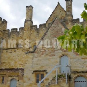 ENGLAND – CIRCA 2011: Fast angle pan to rear entrance at Penshurst Place. - Actor Stock Footage