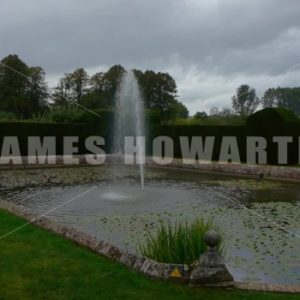 ENGLAND – CIRCA 2011: Fountain pond on a dark day at Penshurst Place. - Actor Stock Footage