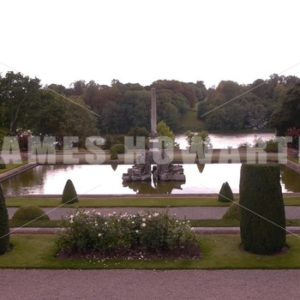 ENGLAND – CIRCA 2011: Garden pond at Howard Castle. - Actor Stock Footage