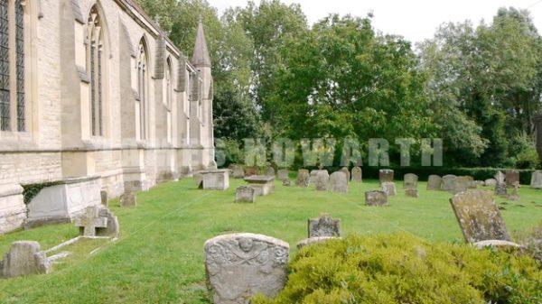 ENGLAND – CIRCA 2011: Grave yard at old english church. - Actor Stock Footage