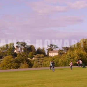 ENGLAND – CIRCA 2011: Green at Howard Castle. - Actor Stock Footage