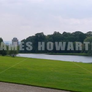 ENGLAND – CIRCA 2011: Howard Castle Lake. - Actor Stock Footage