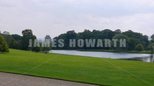 ENGLAND – CIRCA 2011: Howard Castle Lake. - Actor Stock Footage