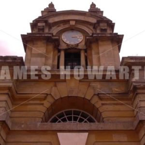 ENGLAND – CIRCA 2011: Howard Castle entrance clocktower. - Actor Stock Footage