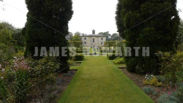 ENGLAND – CIRCA 2011: Howard Castle garden. - Actor Stock Footage