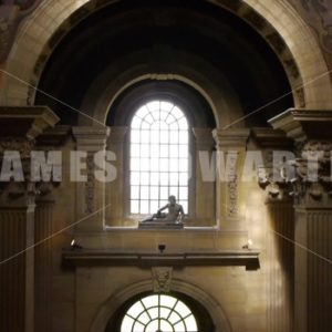 ENGLAND – CIRCA 2011: Inside Howard Castle tilt up to dome roof. - Actor Stock Footage