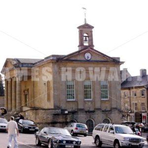 ENGLAND – CIRCA 2011: Library clock tower. - Actor Stock Footage