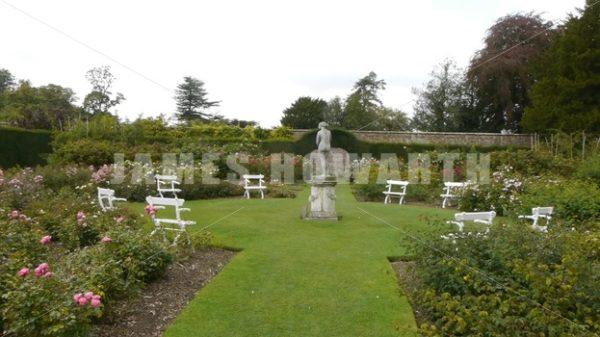 ENGLAND – CIRCA 2011: Pan across Howard Castle garden. - Actor Stock Footage