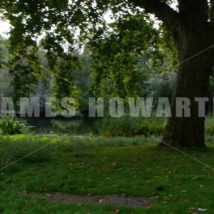 ENGLAND – CIRCA 2011: Pan across Lake near Howard Castle, - Actor Stock Footage