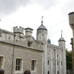 ENGLAND – CIRCA 2011: Pan past Windsor Castle battlement. - Actor Stock Footage