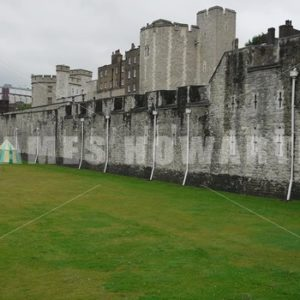 ENGLAND – CIRCA 2011: Pan past Windsor Castle moat. - Actor Stock Footage