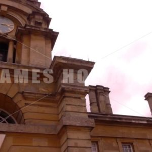 ENGLAND – CIRCA 2011: Pan to Howard Castle entrance clocktower. - Actor Stock Footage