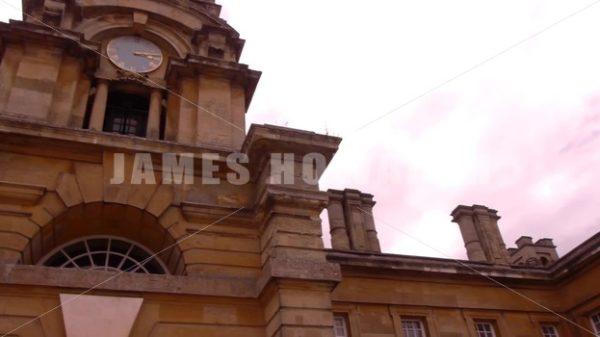 ENGLAND – CIRCA 2011: Pan to Howard Castle entrance clocktower. - Actor Stock Footage