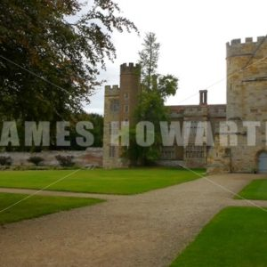ENGLAND – CIRCA 2011: Rear paths at Penshurst Place Castle. - Actor Stock Footage