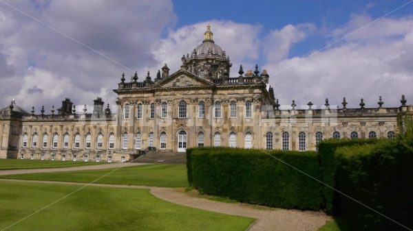 ENGLAND – CIRCA 2011: Side angle of Howard Castle. - Actor Stock Footage