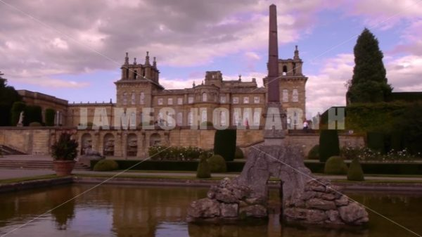 ENGLAND – CIRCA 2011: Side dolly of pond and Howard Castle. - Actor Stock Footage