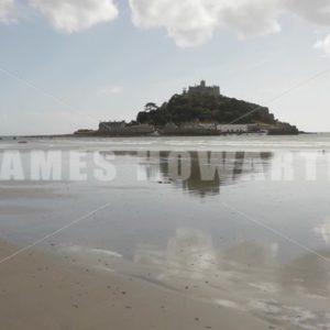ENGLAND – CIRCA 2011: St Michael's Mount - Actor Stock Footage