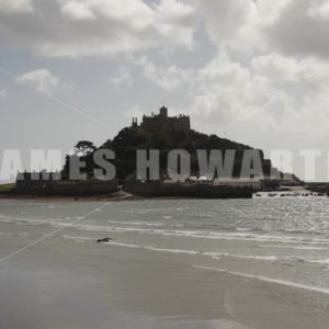ENGLAND – CIRCA 2011: St Michael's Mount - Actor Stock Footage