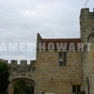ENGLAND – CIRCA 2011: Tilt across to roofs of Penshurst Place Castle. - Actor Stock Footage
