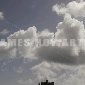 ENGLAND – CIRCA 2011: Tilt down to Dark day St Michael's Mount - Actor Stock Footage