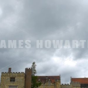 ENGLAND – CIRCA 2011: Tilt down to gardens and Penshurst Place Castle. - Actor Stock Footage