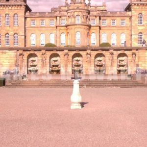 ENGLAND – CIRCA 2011: Tilt up from the sundial to Howard Castle. - Actor Stock Footage