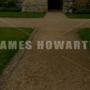 ENGLAND – CIRCA 2011: Tilt up to dark doorway at Penshurst Place Castle. - Actor Stock Footage