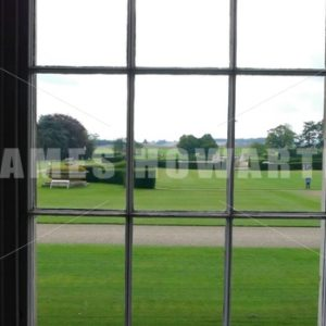 ENGLAND – CIRCA 2011: Window view at Howard Castle - Actor Stock Footage