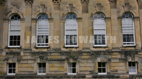 ENGLAND – CIRCA 2011: Windows of Howard Castle. - Actor Stock Footage