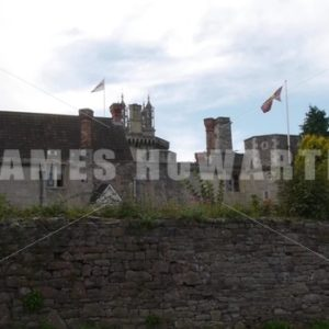 ENGLAND – CIRCA 2011: castle and flags flying in wind - Actor Stock Footage