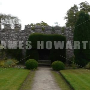 ENGLAND – CIRCA 2011: Fast Pan across castle wall at Thornbury Castle. - Actor Stock Footage