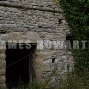 ENGLAND – CIRCA 2011: Pan across ancient castle ruins. - Actor Stock Footage