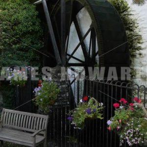 ENGLAND – CIRCA 2011: Water Wheel - Actor Stock Footage