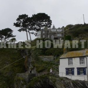 England Circa – 2011: Seaside village on a hill - Actor Stock Footage