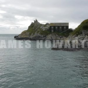 Polperro ENGLAND – CIRCA 2011: Sea entrance and hut - Actor Stock Footage