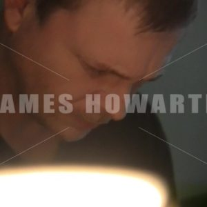 A man sweating in a room. - Actor Stock Footage