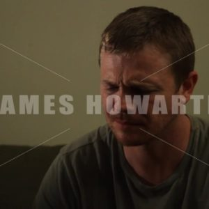 Man reacting to a person sad and confused. - Actor Stock Footage